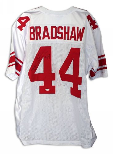 Ahmad Bradshaw New York Giants Autographed White Throwback Jersey - 100% Authentic Autograph - Genuine NFL Signature - Perfect Sports (Authentic Throwback White Jersey)