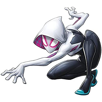 9 Inch Spider-Gwen Stacy Decal Spider-Woman Spiderman Marvel Comics Removable Peel Self Stick Adhesive Vinyl Decoration Wall Sticker Art Kids Room Home Decor Boys Nursery 9 x 8 Inch: Baby