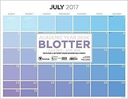 Academic Year For The Love Of Color Desk Blotter July - Desk blotter calendar
