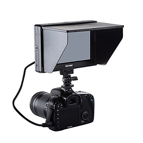 Viltrox 7'' DC-70 Clip-on Color TFT LCD Monitor HDMI AV Input 1280x800 for DSLR by VILTROX