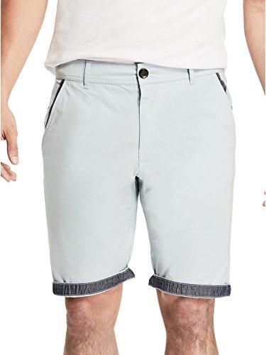 GUESS Factory Men's Ashka Flat-Front Poplin Shorts
