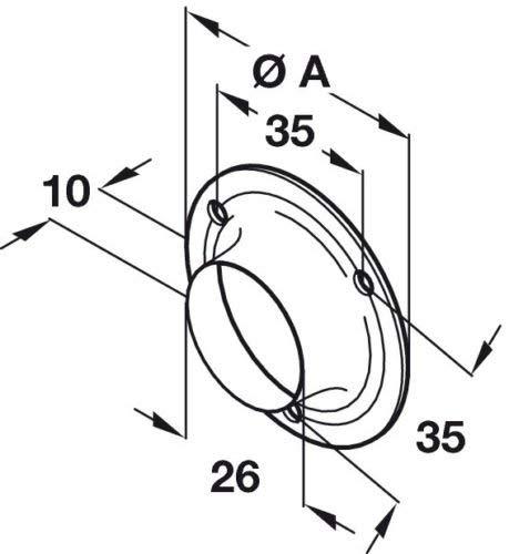 6 anillos de soporte redondos para barra de armario de 25 mm con tornillos