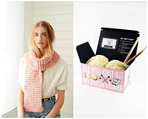 Loopy Mango DIY All You Knit Kit - My First Scarf (Bordeaux)