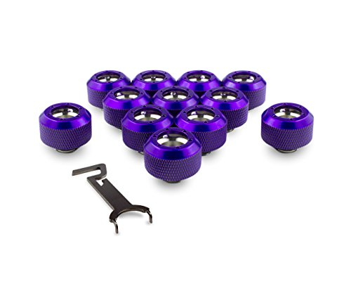 PrimoChill 1/2in. Rigid RevolverSX Series Fitting - Candy Purple - 12 Pack