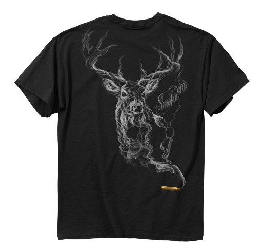 Buckwear Smoke-Deer Short Sleeve Tee, Black, XXX-Large