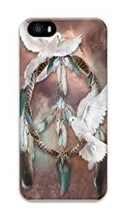 iPhone 5S Case and Cover -Dreams of Peace Native American Custom PC Hard Case Cover for iPhone 5/5S 3D