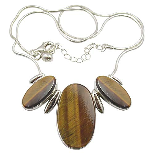 Silver Tiger Eye Necklace - 9