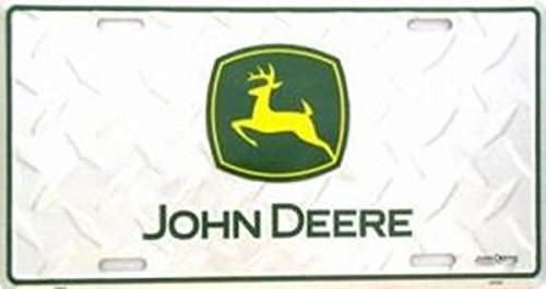 John Deere License Plate Frames - John Deere - Green on Diamond - License Plate
