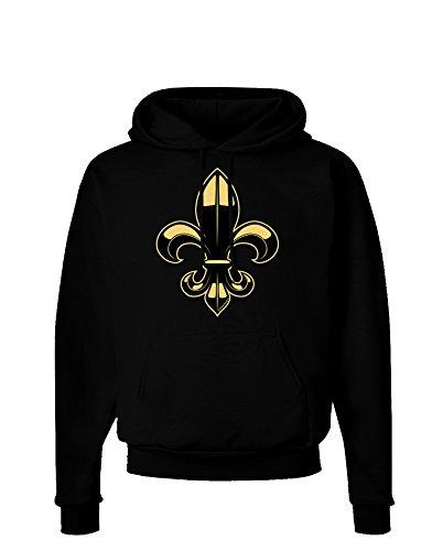 TOOLOUD Golden Fleur de Lis Dark Hoodie Sweatshirt - Black - XL