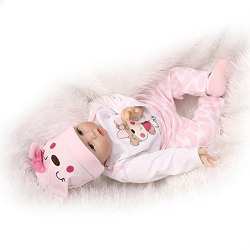 Minidiva Reborn Baby Dolls 22 inch,Quality Realistic Handmade Babies Dolls Girls Soft Vinyl Silicone Lifelike Kids Gifts / Toys Age 3+, EN71 Certification
