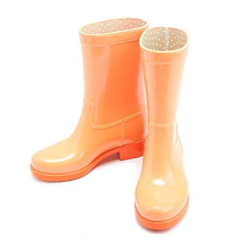 Women's rain boots sexy Spring and summer fashion boots boots leisure boots waterproof non-slip water shoes rubber shoes overshoes adult boots women (Color : Black, Size : EU40/UK7/CN41) Yellow