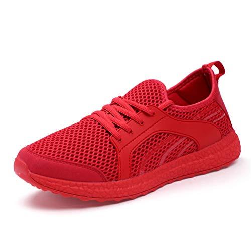 Casuales Verano Unisex Rojo otoño Zapatos Zapatos Encaje FqxxTfpO