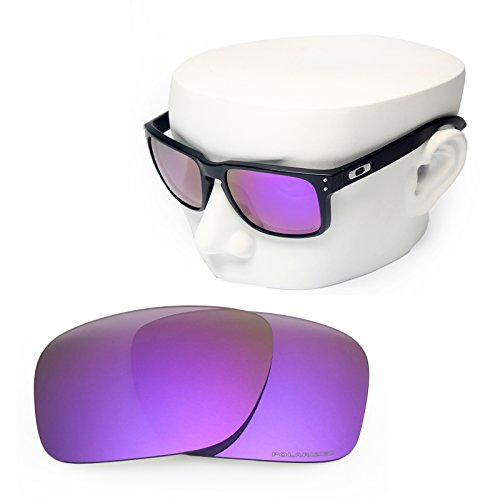 OOWLIT Replacement Sunglass Lenses for Oakley Holbrook Purple Mirror - Oakley Lenses Purple Holbrook