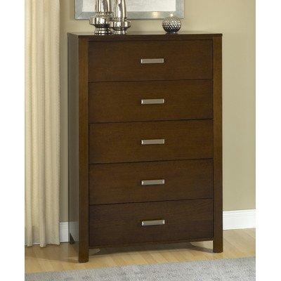 - Modus Furniture RV2684 Riva 5-Drawer Chest, Chocolate Brown