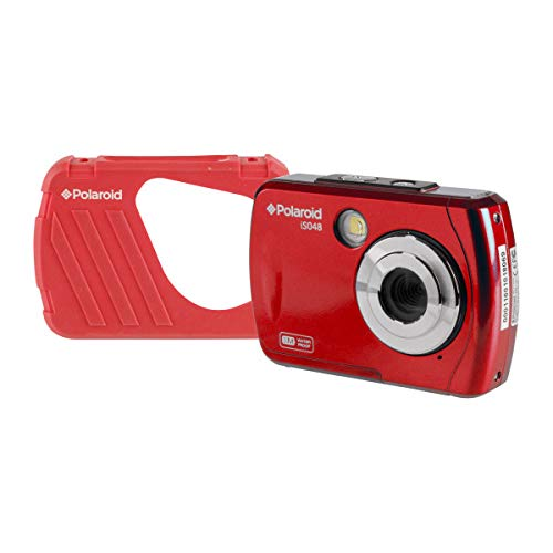 Polaroid IS048 Waterproof Instant Sharing 16 MP Digital Portable Handheld Action Camera, Red