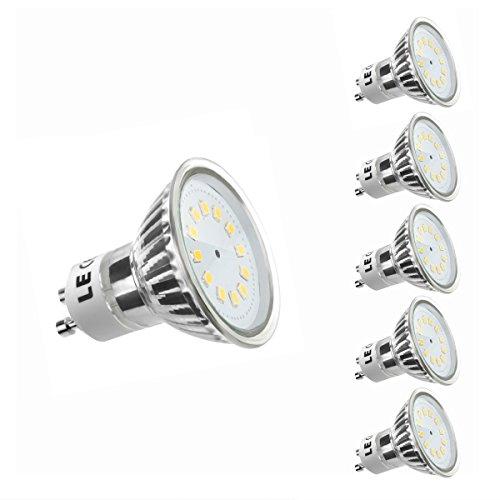 LE 5er GU10 LED Lampen ersetzt 35W Halogenlampen MR16 2.5W 260lm Warmweiß 3000K 120° Abstrahwinkel LED Birnen Leuchtmittel