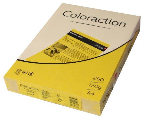 Coloraction Antalis 838A 120S 7 Copy Paper DIN A4 120 g/m² Seville Sunny - 120gsm Matt