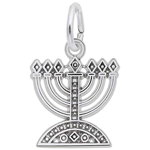 Rembrandt Charms, Menorah, 14K White Gold