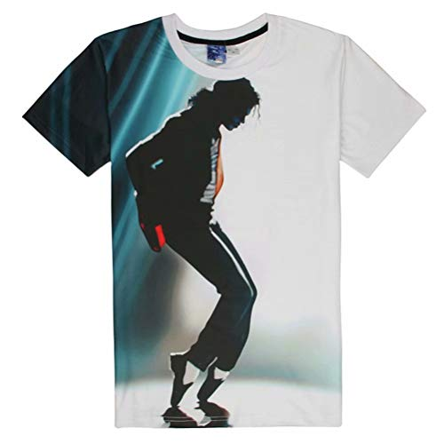 Big Boys Girls Youth Fashion 3D T Shirt Michael Jackson MJ Print Tops