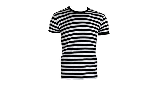 49af73fa5ef Amazon.com  Men  39 s Striped T-shirt Black and White  Clothing