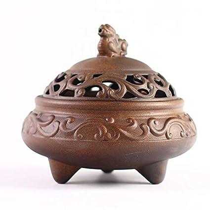 WZGGZ León león Anillo de cerámica Quemador de Incienso Mosquito Estufa hogar sándalo Horno decoración del