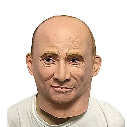 Univegrow Halloween Costume Party Latex Mask Famous Celebrity (President Putin)