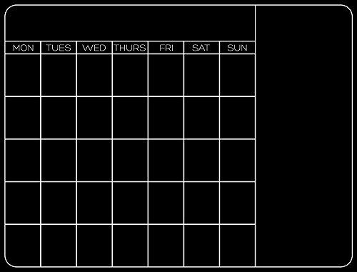 Calendar Liquid Planner : Monthly calendar dry erase planner custom