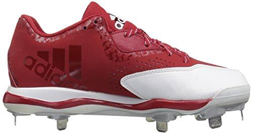 adidas Herren PowerAlley 4 Baseballschuh Power Rot / Weiß / Silber Metallic
