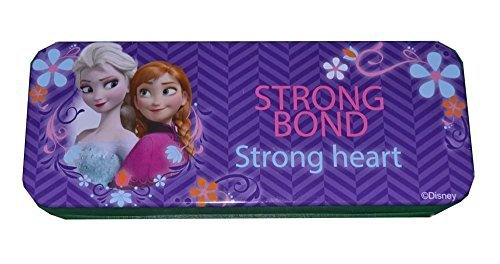 "Best Frozen Tin Pencil Box - Frozen Elsa and Anna Sisters Pencil Box. From the Hit Movie Frozen. Tin Pencil Boxes Make Great Gifts As They Help Kids Practice Organization Skills (Purple ""Strong Bond"" Anna&Elsa)"