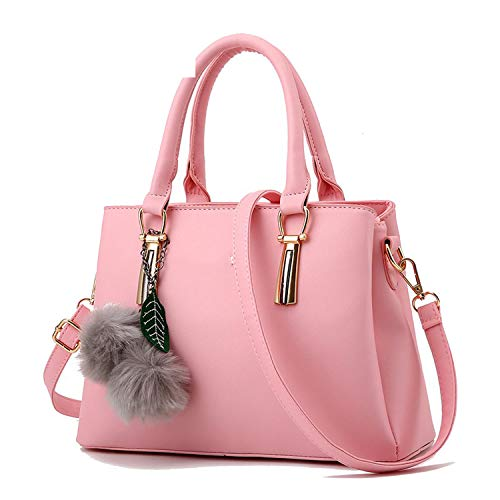 Women Handbags 2018 Genuine Leather Fashion Embossed Shoulder Bags Of Western Style Air Bag Messenger Bags Tote,Pink ()