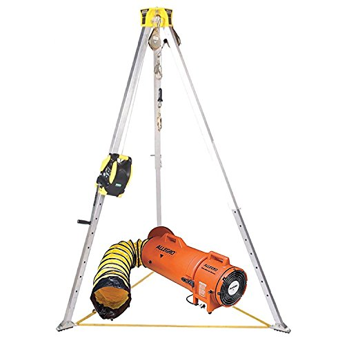 MSA Workman 8' Confined Space Kit with Aluminum Tripod and 65' Winch With Allegro COM-PAX-IAL 8