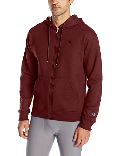 Hoody Sweatshirt Maroon (Champion Men's Powerblend Full-Zip Hoodie, Maroon, Large)