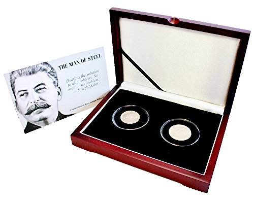 RU 1949 50,100 Korun Joseph Stalin Collection of Two Silver Coins, Beautifully Boxed Fine