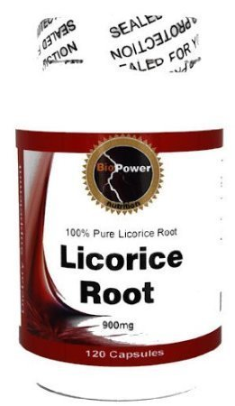 Licorice Root # 240 Capsules Licorice Root 900 Mg Glycyrrhizin - by BioPower Nutrition (2 Bottles)