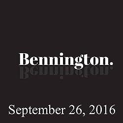 Bennington, September 26, 2016