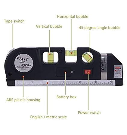 RockFox - Nivel láser multifunción, nivel de medición de nivel por infrarrojos, regla de