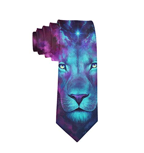 Formal Purple Lion King Art Men Casual Costume Necktie Suit -