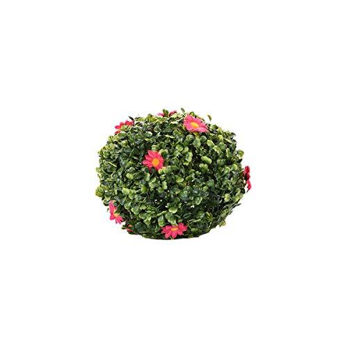 (Wedding Artificial Plant Ball Artificial Garden Grass Buxus Balls Boxwood Topiary Landscape Fake Plants Home Outdoor Decoration,25cm)