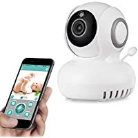 Rukerway Wifi IP Camera 1080P with Temperature Monitor, Home Security Surveillance Camera App, Baby Monitor with Two-Way Audio, Night Vision, Motion Detection Alert for Home, Pet and Property