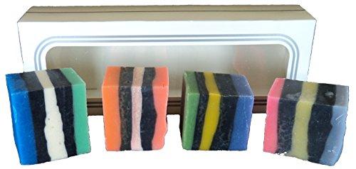 ATTIS Natural Handmade 'All Sorts' Soaps Gift set of 4 | Veg