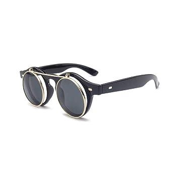 Siwen Steampunk Round Flip Up Sunglass Mujer Hombre En Gafas ...