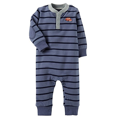Carters Baby Boys 1-Piece French Terry Jumpsuit (3 Months)