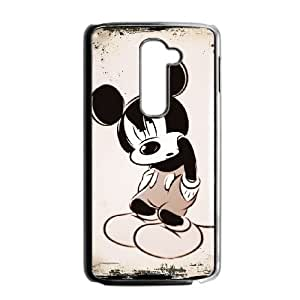 LG G2 Cell Phone Case Black Disney Mickey Mouse Minnie Mouse EG6533475