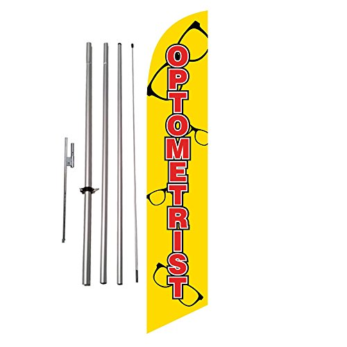 Optometrist Eyecare Advertising Feather Banner Swooper Flag Kit w/ - Optometrist Sunglasses