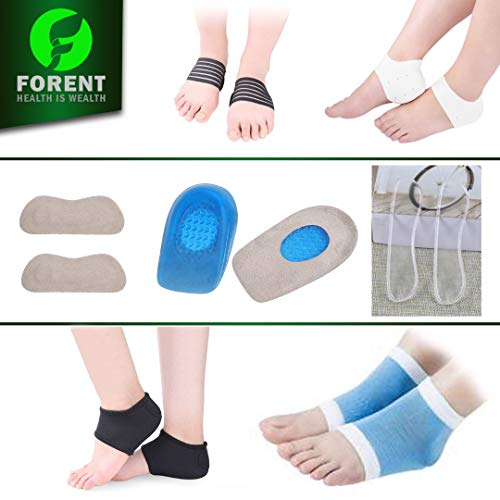 (Plantar Fasciitis Kit-14PCS,Plantar Fasciitis Sock, Plantar Fasciitis Sleeve Ankle Brace, Heel inserts Cushion & Grips Support for Metatarsal Pain, Foot Arch Support, Relieve Foot Pain)
