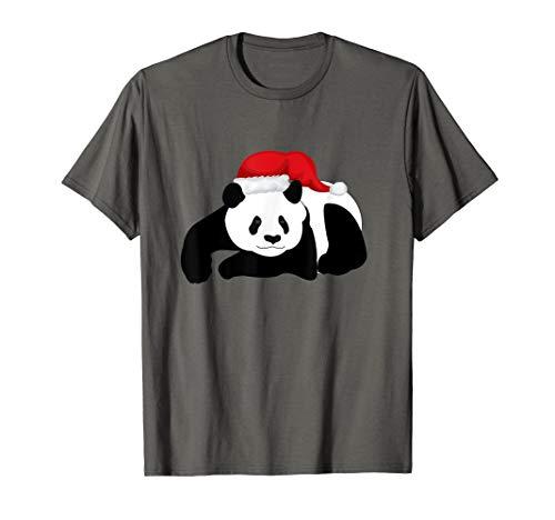 Cristmass Tree Shirts: Panda in Santa#039s Hat tShirt TShirt