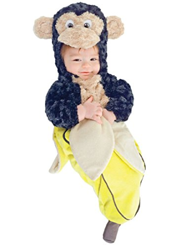 [Underwraps Baby's Monkey In A Banana Bunting, Brown/Yellow, Infant] (Banana Bunting Costumes)