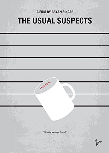 Wall Art Print entitled No095 My The Usual Suspects Minimal