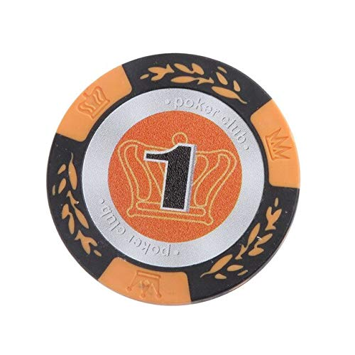 - STORE-HOMER 10Pcs Clay Casino Coins Texas 20 Face Value Clay Casino Leaf Crown Design Poker Club Label Chips for Adult Fun Game