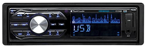 Planet Audio P375MB Single-Din MECH-LESS Multimedia Player (no CD or DVD), Receiver, Bluetooth, Detachable Front Panel, Wireless Remote by Planet Audio